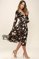 Somedays Lovin Somedays Lovin' Dierdre Black Floral Print Midi Dress