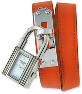 Hermes Kelly Diamond Holiday Lock Watch with Interchangeable Strap