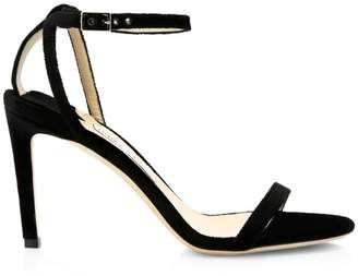 Jimmy Choo Minny Ankle-Strap Suede Sandals