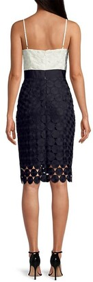 Milly Embroidered Circles Cocktail Dress