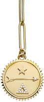 Foundrae Large Dream Medallion On Extended Clip Necklace - Yellow Gold