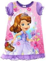 Disney Sofia the First Girls Purple Nightgown Pajamas