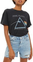 Topshop Women's By And Finally Lace-Up Pink Floyd Tee