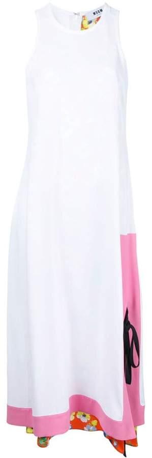 MSGM long contrast layer dress