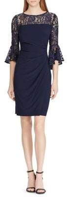 Lauren Ralph Lauren Lace-Trim Jersey Sheath Dress