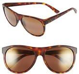 Maui Jim Women's Rising Sun 57Mm Polarizedplus2 Sunglasses - Burgundy Stripe/ Maui Rose