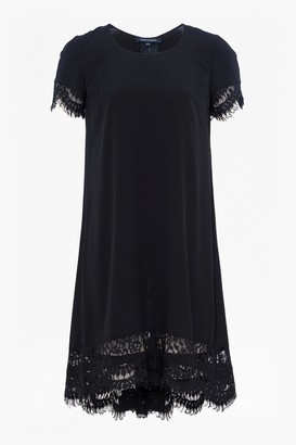 French Connection Classic Crepe and Lace Dress