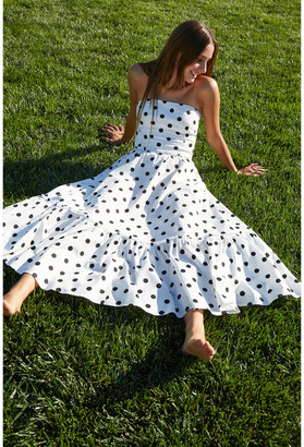 G. Label Zera Strapless Tiered Dress