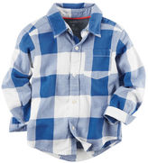 Carter's Twill Checkered Button-Front Shirt