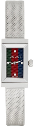 Gucci Silver G-Frame Slim Watch