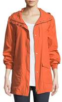 Eileen Fisher Washed Organic Cotton-Blend Hooded Anorak Jacket, Plus Size