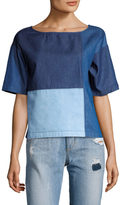 Plenty by Tracy Reese Patchwork Denim Top