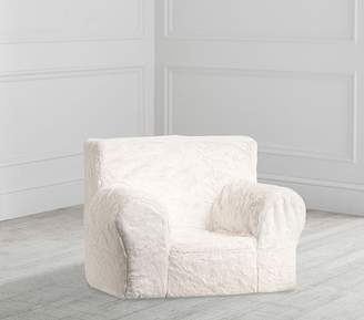Pottery Barn Kids My First Ivory Faux Fur Anywhere Chair