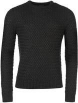 Firetrap Blackseal Textured Knit Jumper