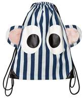 BANG BANG Copenhagen Blue and White Stripe Eyes Backpack