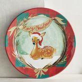 Pier 1 Imports Merry Christmas Deer Melamine Salad Plate