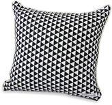 Caden Lane Deco Square Throw Pillow in Black Triangles