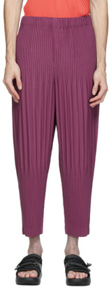 Homme Plissé Issey Miyake Purple MC July Trousers