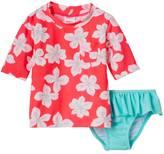 Carter's Baby Girl Tropical Flower Print Rashguard & Ruffle Peplum Bottoms Swimsuit Set