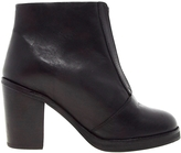 ASOS AMIGO Leather Ankle Boots - Black