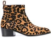 Veronica Beard Leopard Ankle Boots