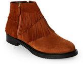 Aperlaï Camel Mod 2 Fringed Short Boots