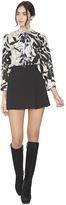 Alice + Olivia Bianka Side Pleat Mini Skirt