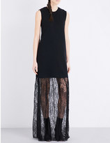 McQ by Alexander McQueen Lace-hem knitted dress