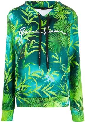 Versace Leaf Print Hoodie