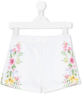 Lapin House - side floral print shorts - kids - Cotton/Spandex/Elastane - 5 yrs