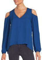 Saks Fifth Avenue Solid V-Neck Top