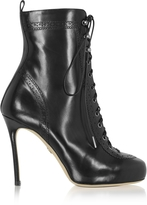 DSQUARED2 Black Leather Witness High Heel Ankle Boots