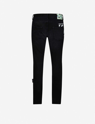 Off-White Diagonal-striped straight jeans