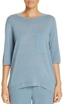 Eileen Fisher Three-Quarter Sleeve Merino Wool Sweater