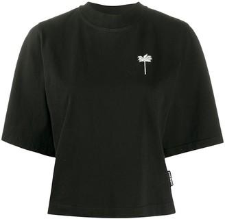 Palm Angels cropped palm tree motif T-shirt
