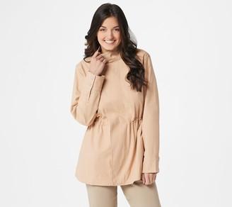 Martha Stewart Stretch Canvas Zip Front Anorak Jacket