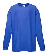 Fruit of the Loom Kids Long Sleeve Valueweight T Shirt