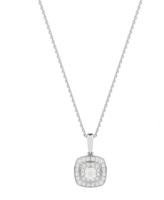 Jenny Packham 18ct White & Rose Gold 0.35ct Cushion Cut Double Halo Diamond Necklace