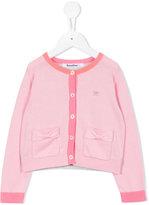 Familiar contrast trim cardigan - kids - Cotton - 2 yrs