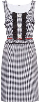 Miu Miu Gingham Check Dress