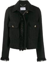 Salvatore Ferragamo boucle tweed zip-front jacket