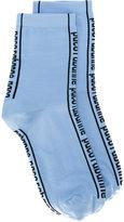 Paco Rabanne logo print socks