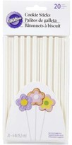 Wilton 6-Inch Cookie Sticks, White, 20-Count