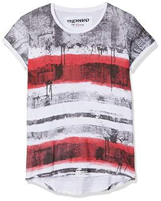 trueprodigy Casual Mens Clothes Funny and Cool Designer T-Shirts Shirt for Men Striped Crew Neck Slim Fit Short Sleeve Sale, Size:L, Colours: