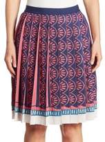 Mary Katrantzou Mighty Pleated Knit Skirt