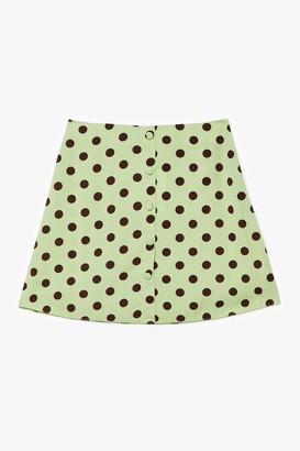 Nasty Gal Womens polka dot mini skirt - Sage