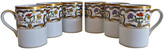 One Kings Lane Vintage Christian Dior Renaissance Mugs - Set of 6 - The Montecito Collection - white/gold/multi