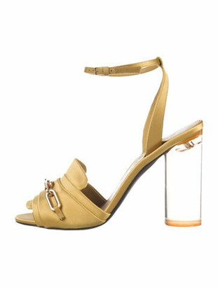 Burberry Chain-Link Accents Sandals Yellow