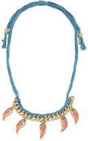 Rachel Roy Cord Wing Frontal Necklace