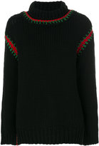 Moncler embroidered roll-neck sweater
